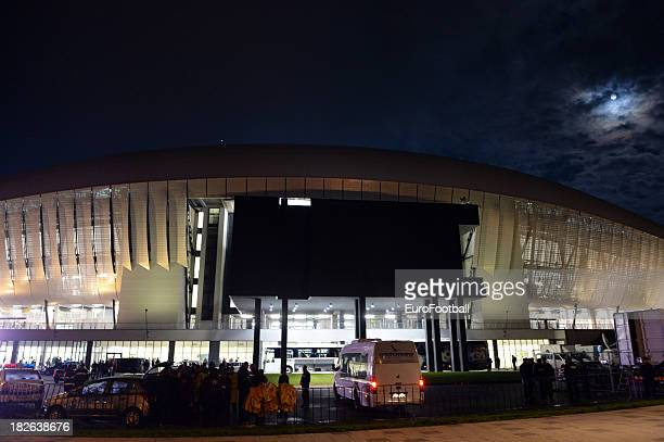 General view of the Cluj Arena home of CS Pandurii Targu Jiu taken during the UEFA Europa League group stage match between CS Pandurii Targu Jiu and...