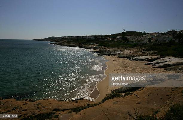A general view of the coastline on May 7 2007 at Praia da Luz Portugal Threeyearold Madeleine McCann disappeared May 3 from her bedroom in the...