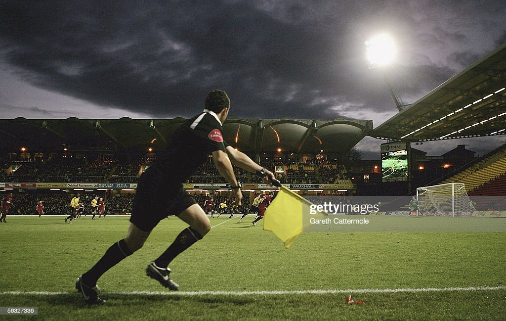 A general view of the Coca-Cola Championship match between Watford and Brighton & Hove Albion at Vicarage Road on December 3, 2005 in Watford, England.