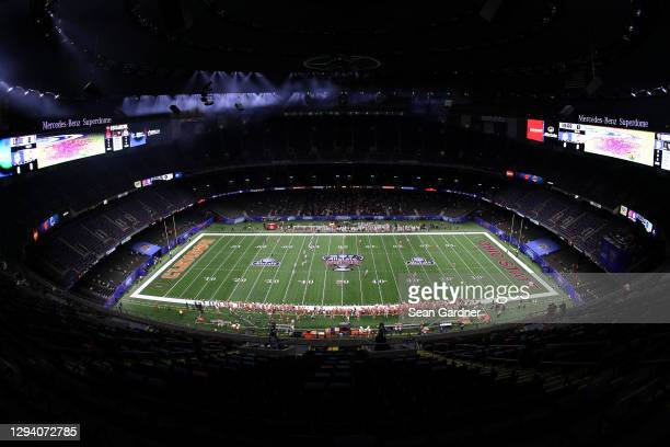 General view of the College Football Playoff semifinal game between the Clemson Tigers and the Ohio State Buckeyes at the Allstate Sugar Bowl at...