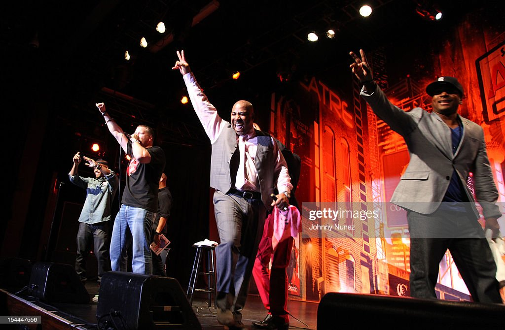 A general view of the comedians on stage at Shaquille O'Neal's All Star Comedy Jam at the Best Buy Theater on October 19, 2012 in New York City.