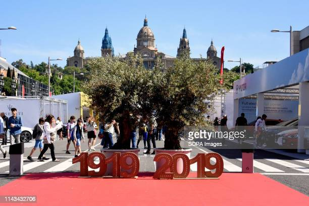 General view of the commemoration of the 100th anniversary of the Automobile Trade Fair 2019 in Barcelona