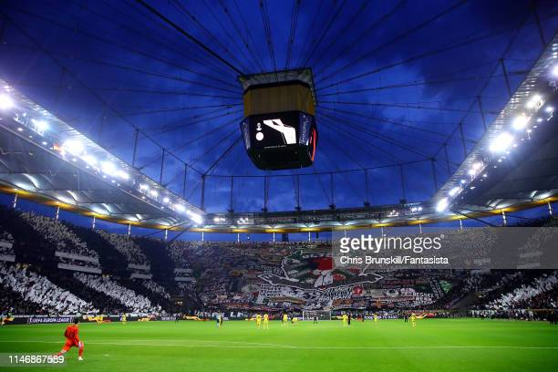 A general view of the CommerzbankArena ahead of the UEFA Europa League Semi Final First Leg match between Eintracht Frankfurt and Chelsea at...