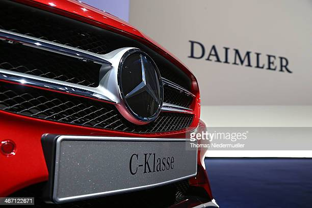 General view of the company's financial performance in 2013 during the Daimler AG annual press conference on February 6 2014 in Stuttgart Germany...