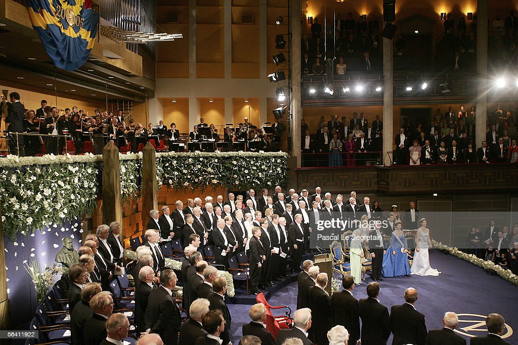 General view of the Concert Hall as the Swedish Royal family and Nobel Laureates attend the Nobel Foundation Prize 2005 at the Concert Hall on December 10, 2005 in Stockholm, Sweden.