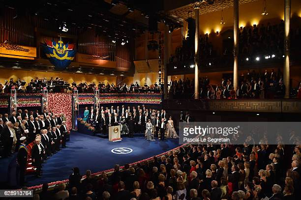 General view of the Concert Hall during the Nobel Prize Awards Ceremony at Concert Hall on December 10 2016 in Stockholm Sweden