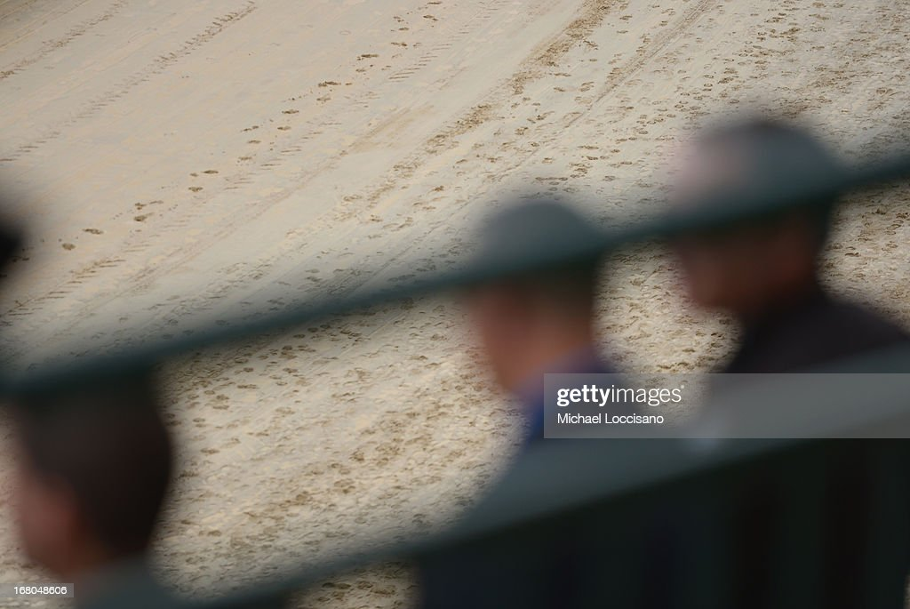 General view of the condition of the track during the 139th Kentucky Derby at Churchill Downs on May 4, 2013 in Louisville, Kentucky.