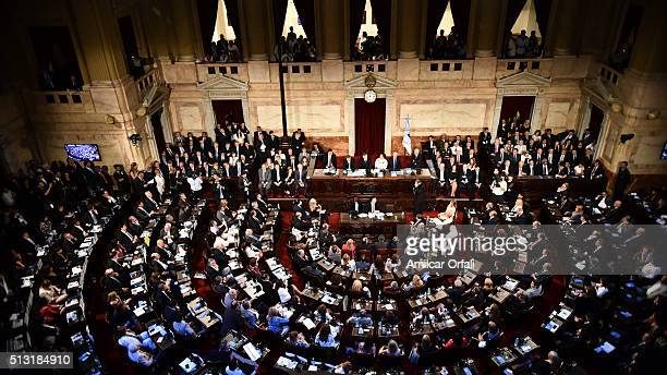 General view of the Congress during the inauguration of the 134th Period of Congress Ordinary Sessions on March 01 2016 in Buenos Aires Argentina