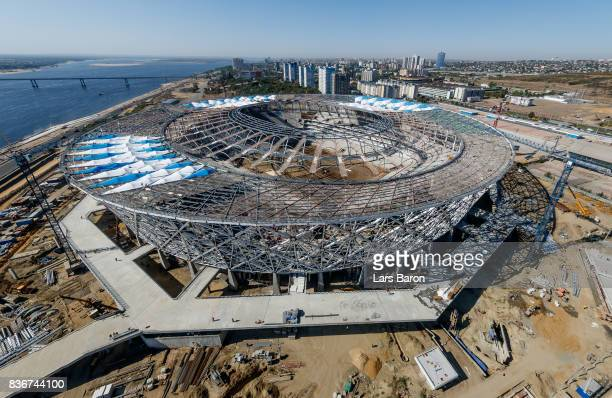 A general view of the constraction site of the Volgograd Arena on August 22 2017 in Volgograd Russia