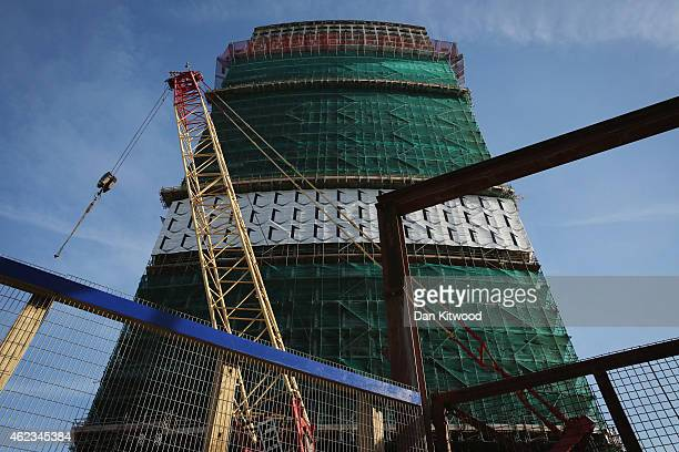 A general view of the construction at Centre Point on January 27 2015 in London England Work continues on the creation the luxury flat conversion of...