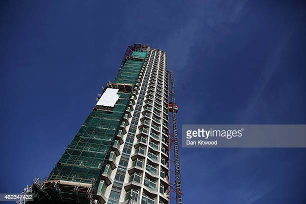 A general view of the construction at Centre Point on January 27 2015 in London England Work continues on the creation of the luxury flat conversion...