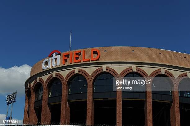 General view of the construction of Citi Field in Flushing, Queens, New York on September 10, 2008.