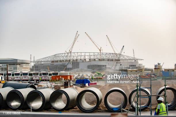 March 31: A general view of the construction of The Al Rayyan Stadium in Al Rayyan in Metropolitan Doha, Qatar - venue for the FIFA World Cup Final...