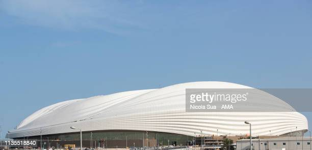 March 30: A general view of the construction of the Al Wakrah Stadium in Al Wakrah, Qatar - venue for the FIFA World Cup Qatar 2022 on March 30, 2019...
