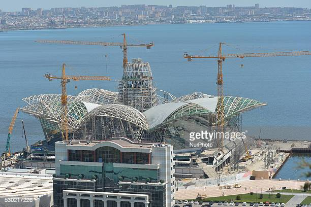 General view of the construction site of Baku newest shopping center. On 9 May 2016, in Baku, Azerbaijan.