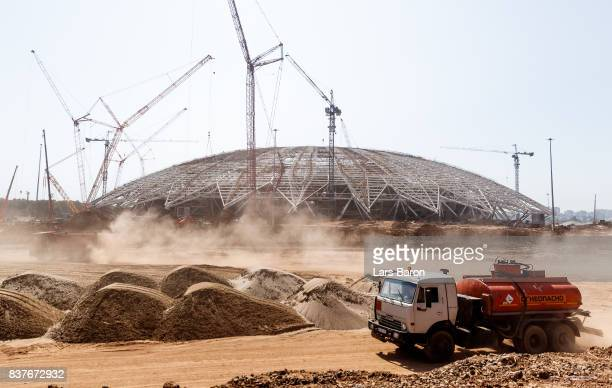 A general view of the construction site of Samara Arena on August 23 2017 in Samara Russia