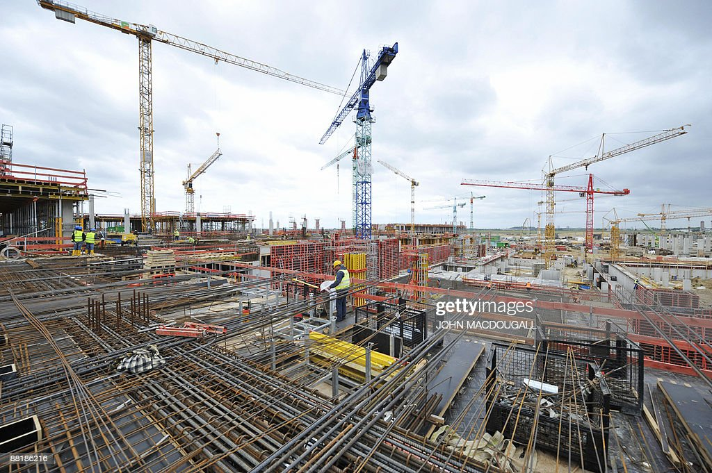 general view of the construction site of the main terminal of