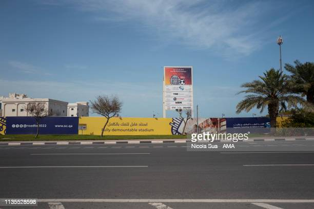 March 30: A general view of the construction site of the Rus Abu Aboud Stadium in Doha, Qatar a venue for the FIFA World Cup Qatar 2022 on March 30,...