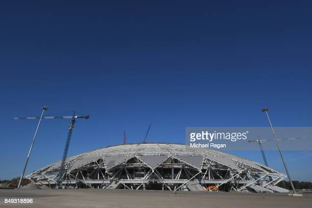A general view of the construction site of the Samara Arena on September 17 2017 in Samara Russia