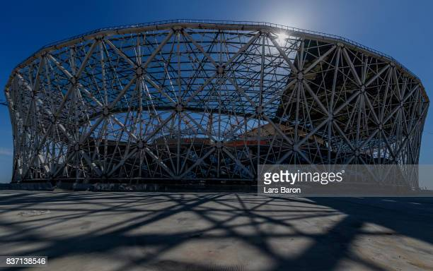 A general view of the construction site of the Volgograd Arena on August 22 2017 in Volgograd Russia
