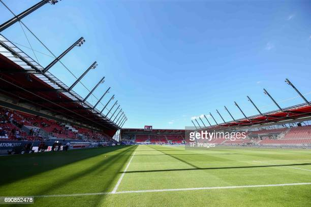 General view of the Continental Arena prior the Second Bundesliga Playoff first leg match between Jahn Regensburg and TSV 1860 Muenchen at...