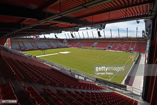 General view of the Continental Arena stadium prior to the 3 Liga match between Jahn Regensburg and Sportfreunde Lotte at Continental Arena on March...