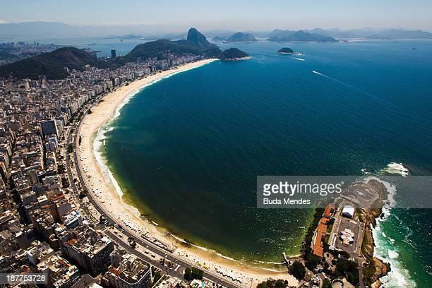 A general view of the Copacabana beach on November 12 2013 in Rio de Janeiro Brazil