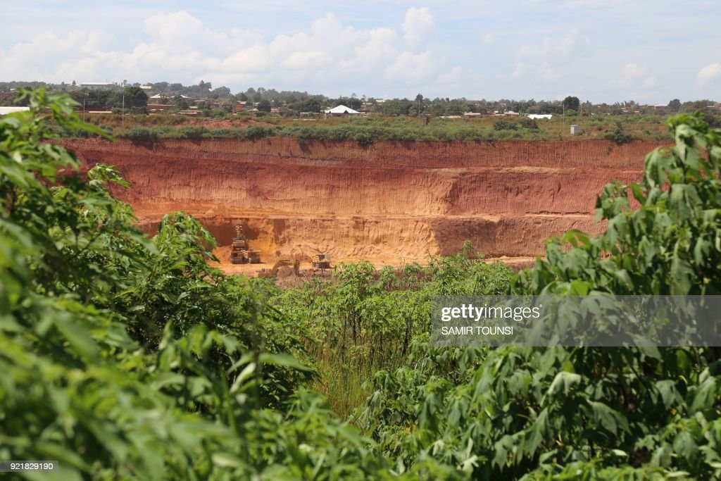 General view of the copper and cobalt mine of Kolwezi on February 14, 2018. To Promulgate or not to promulgate? Congolese President Joseph Kabila is playing with the nerves of markets and lobbies by continuing the suspense around the reform of the mining code which plans to multiply by five a tax on cobalt. The Democratic republic of Congo is the leading cobalt producer providing 67% of the increasing global demand. /