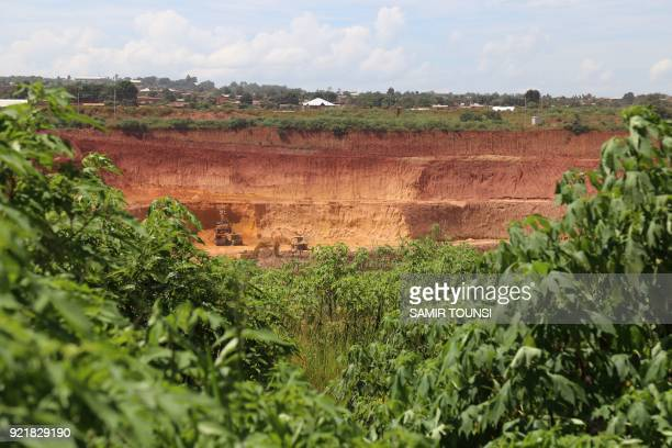 General view of the copper and cobalt mine of Kolwezi on February 14, 2018. To Promulgate or not to promulgate? Congolese President Joseph Kabila is...