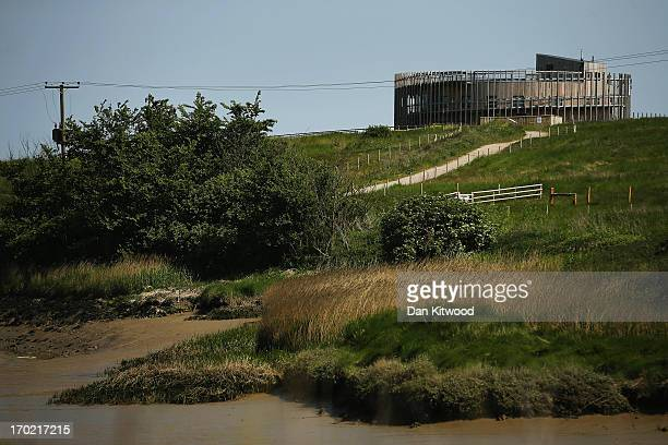 A general view of the Corey Environmental Trust Visitor Centre at 'Thurrock Thameside Nature Park' on June 6 2013 in Thurrock England The 120 acres...