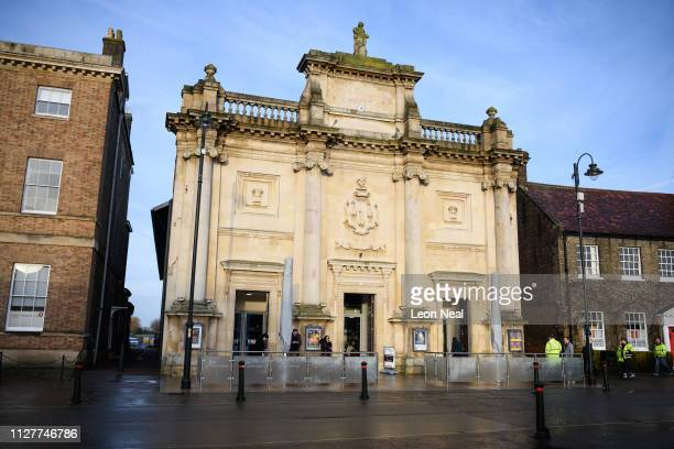 General view of the Corn Exchange on February 06, 2019 in King's Lynn, England. The Corn Exchange was built in 1854 and is now a public arts...