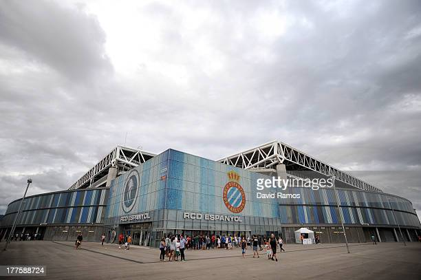 A general view of the CornellaEl Prat Stadium prior to the La Liga match between RCD Espanyol and Valencia CF on August 24 2013 in Barcelona Spain