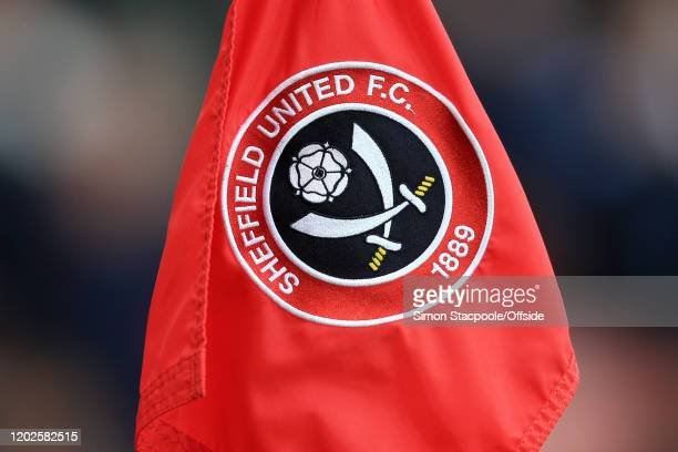 General view of the corner flag during the Premier League match between Sheffield United and Brighton & Hove Albion at Bramall Lane on February 22,...
