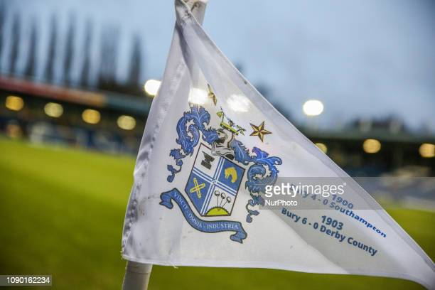 A general view of the corner flag during the Sky Bet League 2 match between Bury and Lincoln City at Gigg Lane Bury on Saturday 26th January 2019