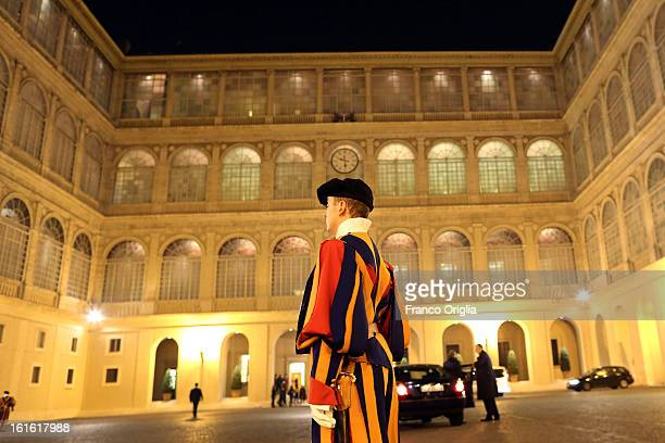 A general view of the Cortile di San Damaso during the courtesy visits to the new appointed cardinals at the Apostolic Palace on November 24 2012 in...