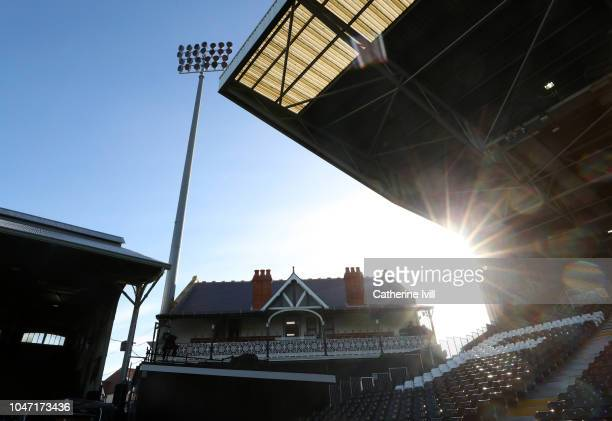General view of the cottage inside the stadium before the Premier League match between Fulham FC and Arsenal FC at Craven Cottage on October 7 2018...