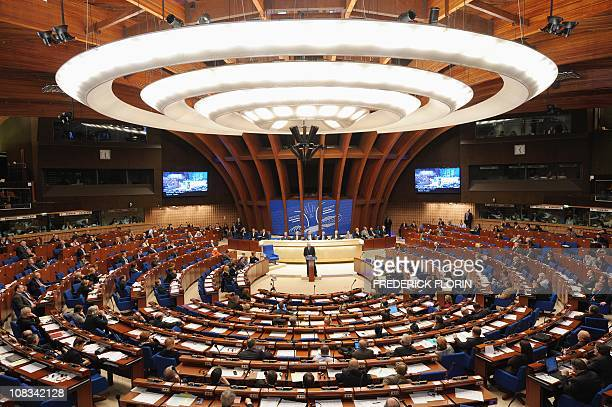 General view of the Council of Europe parliamentary assembly in Strasbourg, eastern France, taken on January 26, 2011. AFP PHOTO/FREDERICK FLORIN