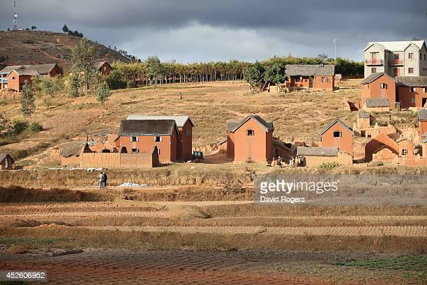 General view of the countryside outside Antananarivo on July 21, 2014 in Antananarivo, Madagascar.