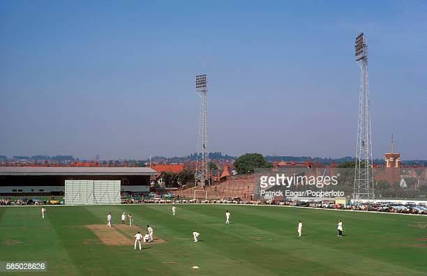 General view of the County Championship match between Northamptonshire and Nottinghamshire at the County Ground Northampton 19th August 1971