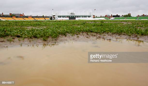 A general view of the County Ground after the Twenty20 Cup Quarter Final match between Northamptonshire and Hampshire was abandoned before a ball was...