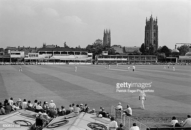 General view of the County Ground at Taunton during the Benson and Hedges Cup Quarter Final between Somerset and Hampshire, 12th June 1974.