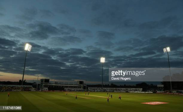 General view of the County Ground during the 2nd Vitality Women's IT20 match between England and the West Indies at The County Ground on June 21,...
