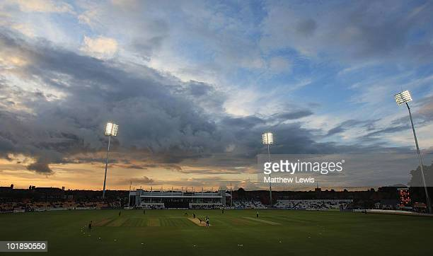 A general view of the County Ground during the Friends Provident T20 match between Northamptonshire and Leicestershire at the County Ground on June 8...