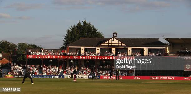 A general view of the County Ground during the Vitality Blast match between Northamptonshire Steelbacks and Leicestershire Foxes at The County Ground...