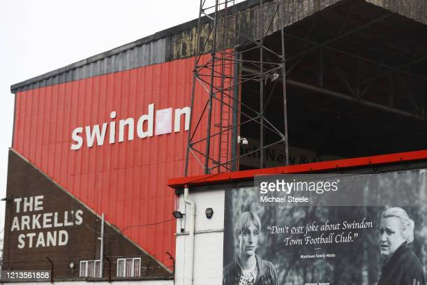 General view of the County Ground home of Swindon Town Football Club on March 19 2020 in Swindon England