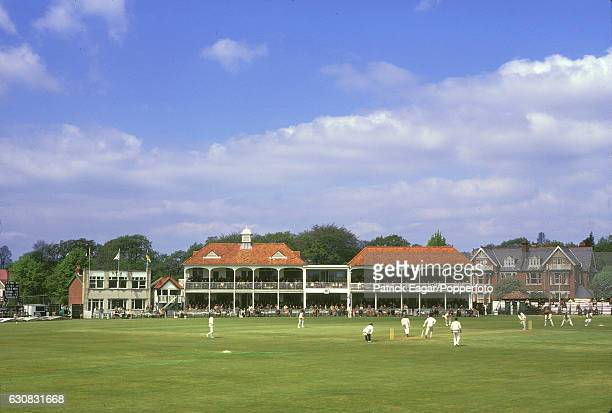 A general view of the County Ground Northlands Road Southampton during the tour match between Hampshire and The Indians May 1974
