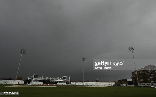 A general view of The County Ground on October 06 2020 in Northampton England
