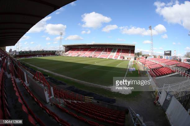 General view of the County Ground prior to the Sky Bet League One match between Swindon Town and Northampton Town at County Ground on February 27,...