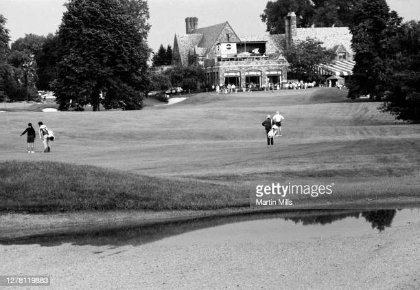 General view of the course at the 1972 U.S. Women's Open Golf Championship on July 1, 1972 at the Winged Foot Golf Club, East Course in Mamaroneck,...