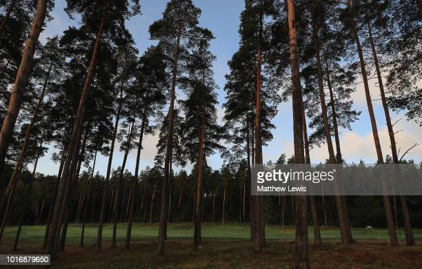 A general view of the course during a practice round ahead of the Nordea Masters at Hills Golf Club on August 15 2018 in Gothenburg Sweden